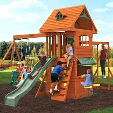 big backyard deluxe clubhouse wooden swing set reviews big swing sets big swing set plans