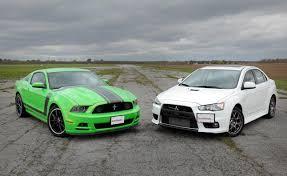 mitsubishi evo custom turbo. ford mustang boss 302 vs mitsubishi lancer evo custom turbo n
