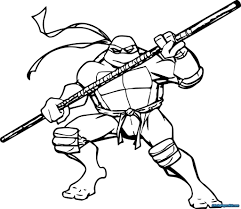 Coloring Pages Ninjang Pages Turtle Sheets Free Kids Printable