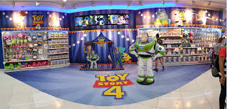 buzz lightyear and the whole toy story 4 gang lands in toys r us singapore