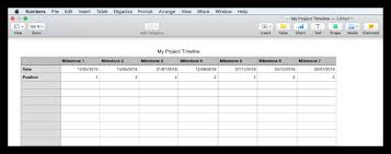How To Make A Timeline In Numbers For Mac Free Template