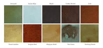 Concrete Floor Color Chart Awesome Acid Stained Concrete Floor How To Staining Direct