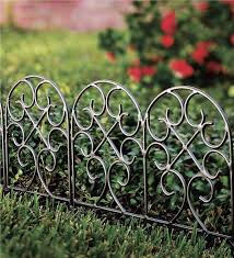 metal garden edge fencing designs
