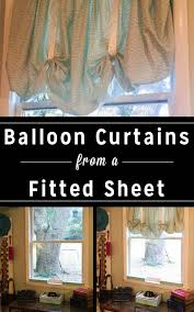 turn an old fitted sheet into cute diy balloon curtains no sewing required