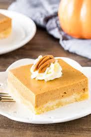 pumpkin pie bars just so tasty