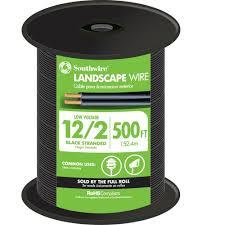 Southwire 250 Ft 12 2 Landscape Lighting Cable Southwire 500 Ft 12 2 Black Stranded Cu Low Voltage Landscape Lighting Wire