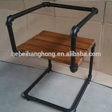 iron pipe furniture. DIY Black Metal Pipe Furniture With Cast Iron Floor Flange, Elbow, Fittings