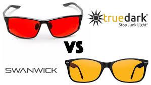 Dark To Light Sunglasses Truedark Vs Swannies Which Blue Blockers Are Best The