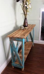 Pallet Entry Table Some Creative Woodworking Ideas With Pallets Wood Pallet Furniture