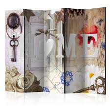 Dekoobjekt Fenster Paravent Shabby Chic Holz Antik Weiß