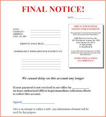 Collections Letter.final Notice Collection Letter Sample 35805.jpg ...