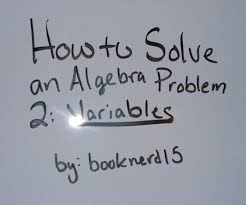 how to solve an algebra problem variables steps