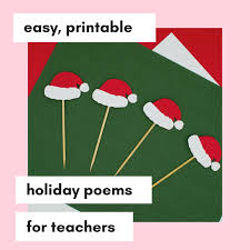 I've included two sizes of printables for tags or to put in a frame and display with little cups of m&m's. 10 Christmas Poems For Teachers Printable Moneyminder Software