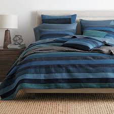 Weston Stripe Quilt | The Company Store & Weston Navy Stripe Quilt / Sham Adamdwight.com
