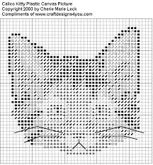 Free Plastic Canvas Patterns To Print Magnificent FREE Plastic Canvas Calico Kitty Pattern From Craft Designs For You
