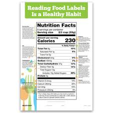 Reading Health Chart Reading Food Labels Chart For Health Education Health Edco