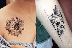 14 úplně úžasné Nápady Tetování Pro Milovníky Koček Rozkošný 2019