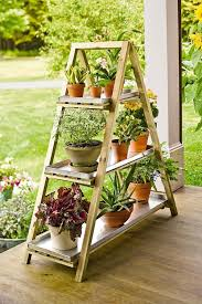 a framed plant stand