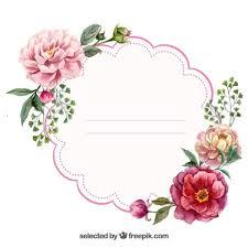 Label Design Templates Watercolor Floral Label Vector Free Download In Flower Label