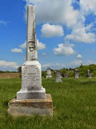 the lucas countyan 2014 henry bell that early cumberland presbyterian preacher who died at age 37 years 6 months and 10 days on nov 10 1865 has the tallest tombstone in allen