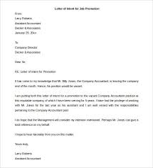 Best Ideas of Sample Format Letter Intent For Promotion Cover