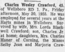 Obituary for Charles Wesley Crawford (Aged 45) - Newspapers.com