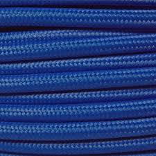 fabric lighting cable 3 core. Braided Fabric Lighting Cable In A Dark Blue Colour. Round 3 Core Coloured Flex G