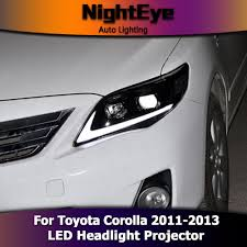 NightEye Toyota Corolla Headlights 2011-2013 Altis LED Headlight ...