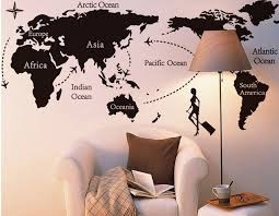 creative office walls. Creative Office Wall Stickers Country Name World Map Fashion Trip Walls F