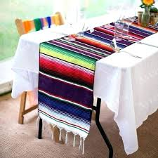 diy table runner ideas table runner fiesta themed party mayo celebration party se cotton table runner