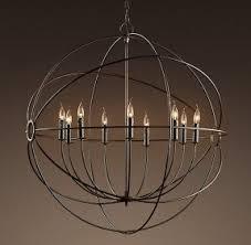 sphere lighting fixture. restoration hardware orb chandelier sphere lighting fixture l