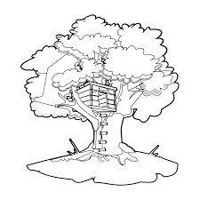 Tree House 1 Buildings And Architecture Printable Coloring Pages
