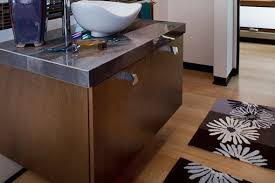 bathroom cabinets for vessel sinks. floating bathroom cabinet vessel sink bookmatched aires doors thick granite edge cabinets for sinks