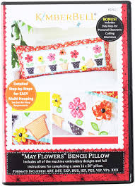 Machine Embroidery Design Patterns May Flowers Bench Pillow Embroidery Cd By Kimberbell Kd521