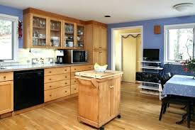 light maple cabinets coffee table kitchen floor ideas with cabinet grey walls black countertops mapl