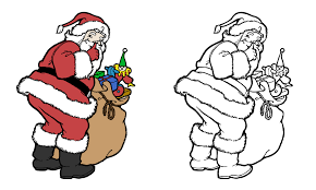 Santa, our main character in this holiday checking his list, checking it twice and ready to bring toys to all of the good boys and girls of the world. Christmas Santa Coloring Page Free Stock Photo Public Domain Pictures