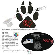 Panther Paw Embroidery Design Bear Paw Embroidery Design Pets Embroidery Animals Embroidery Design Sports Embroidery Embroidery Patterns Instant Download Pes