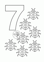 Number 7 Coloring Pages For Kids
