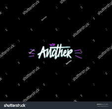 Another Word For Violet Another Word Writen By Brush Pen Stock Vector Royalty Free