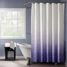 purple monochromatic fabric shower curtain