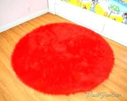 round red area rugs bedroom rug bright fur throw boy girl kids runner nurse red rug round