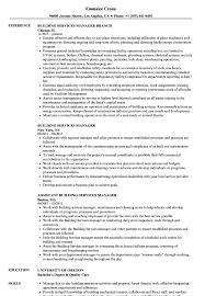 Resume Building Services Building Services Manager Resume Samples Velvet Jobs