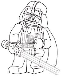 Small Picture Lego Star Wars Darth Vader coloring page from Lego Star Wars