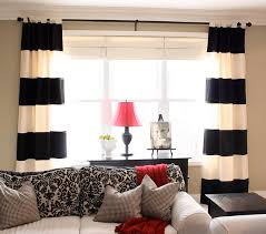 diy black white striped curtains the yellow cape cod the inspired room