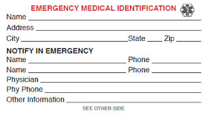 Emergency Card Template Template For Badge Free Medical Id Card Click To View Or Right