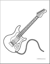Small Picture Clip Art Electric Guitar coloring page I abcteachcom abcteach