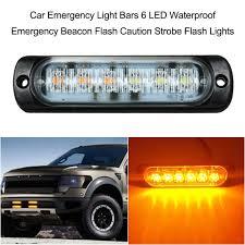 Strobe Light Bar Amazon Amazon Com Alina Shops Car Emergency Light Bars 6 Led