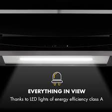 Klarstein Prism Dunstabzugshaube Inselabzugshaube 720m³h Energieeffizienzklasse A Booster Funktion Touch Steuerung Lcd Display Timer