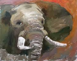 saatchi art artist leonid khomich painting animals elephant painting 20 oil on