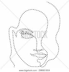 Do the same for the right nipple. Isolated Dotted Line Vector Photo Free Trial Bigstock